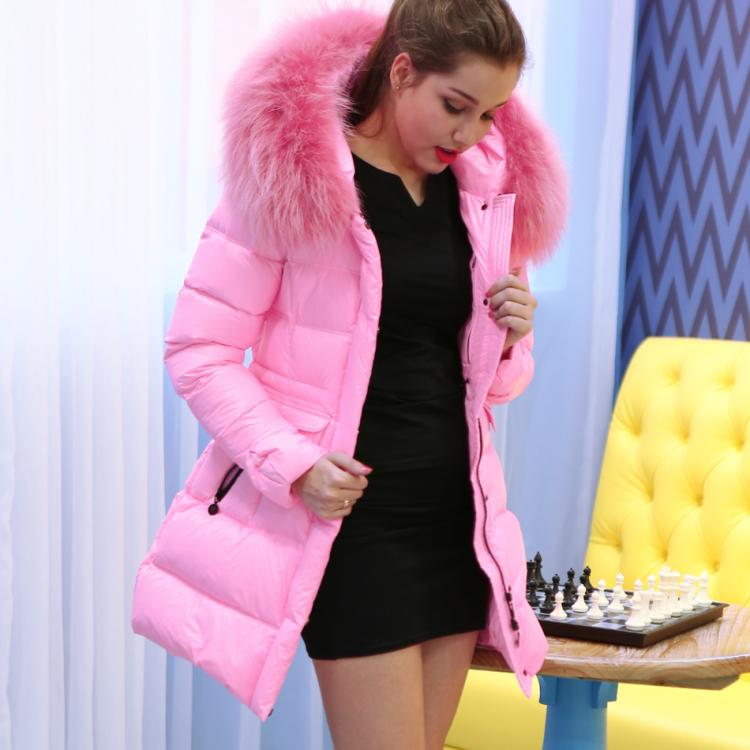 Ghost princess brand jacket girls long thick winter fur collar super slim Korean Yuhuang