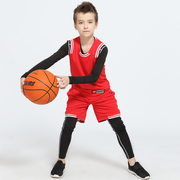 Spring tide brand children's basketball wear tights four suit plate group purchase dry fit custom basketball clothing