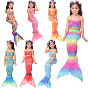 Children, mermaid clothing, swimsuit, girl, fish tail, baby princess, Disney, girls, swimming suits, three pieces