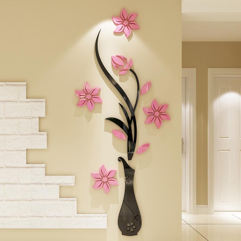 新年亚克力3d立体墙贴客厅背景墙面装饰房间的小饰品墙壁贴纸贴画