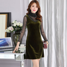 Mubo Kasuoluoshilin flagship store 201 thousand and 700 PS Bao Long Sleeve Dress Dress Dress autumn rendering routine