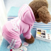 New pet winter dog clothes winter wear coral velvet four-legged small dog teddy VIP summer Clothes