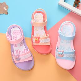 女童凉鞋2018夏季新款沙滩鞋儿童塑料凉鞋女孩中小童鞋韩版公主鞋