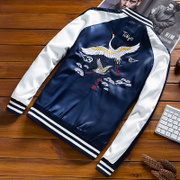 In spring and autumn embroidered pilot wings baseball uniform jacket men coat jacket loading