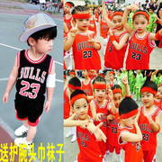 Summer Kobe curry kindergarten children basketball clothes children Training Jersey Boys and girls performing suits