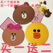 Brown bear cartoon mouse pad rubber cloth slip Sally chicken Qiuke notebook mouse pad bag mail