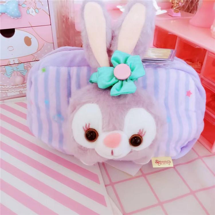 现货达菲熊新朋友芭蕾舞长耳兔子史黛拉兔立体毛绒收纳袋化妆包
