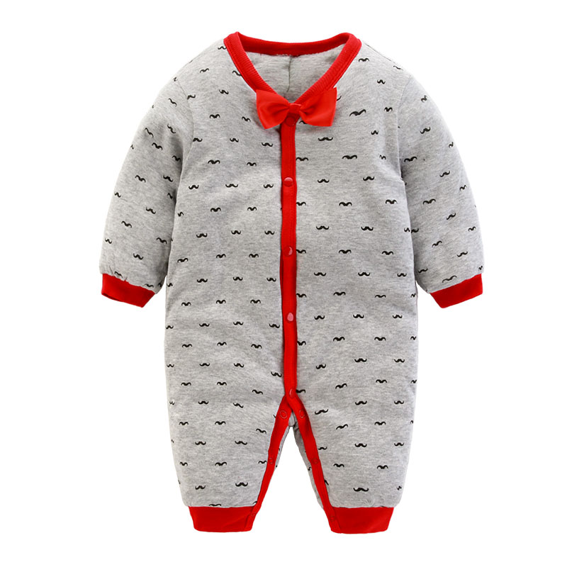 Baby clothes thick autumn and winter clothing female male baby newborn 2 ha 1 pure cotton pajamas in March 6