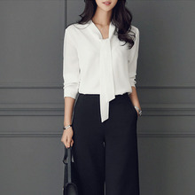 Long sleeved white shirt female Xia Han van code's occupation business suits tooling shirt overalls chiffon shirt