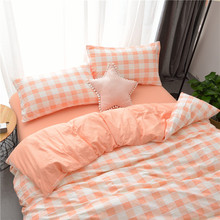 Ultra-soft bare sleeping cotton washable quilt cover 1.8m bed linen student dormitory three-piece suit