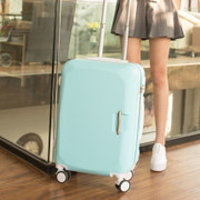 Luggage female cute little pure and fresh and graffiti han edition personality zip password cartoon mirror 20/24 inch of college students