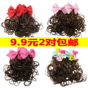 Children cute baby girl wig wig female baby girl long hair short hair Princess Baby wig bag mail