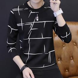 男士长袖t恤春季薄款上衣服男装外套秋衣春装韩版体恤打底衫卫衣