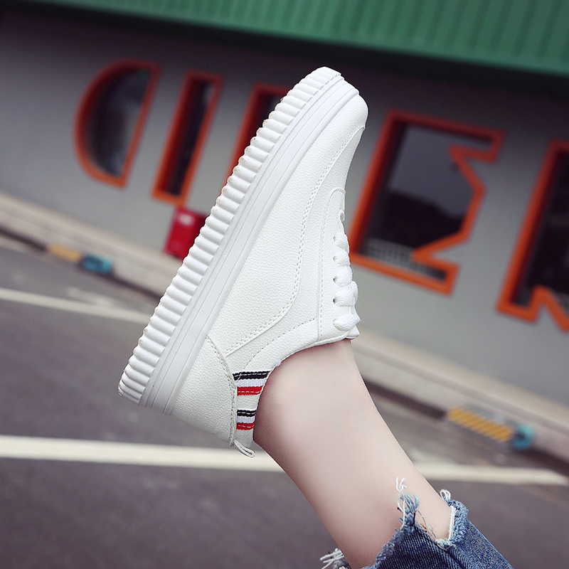 White shoe female student summer white sports shoes all-match Korean Air 2017 new summer leisure Harajuku