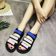 In the summer of 2017 the new flat Roman sandals female British wind students platform shoes female Xia Hou bottom sandals