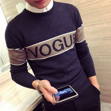 LES handsome T autumn tide small code Mens knit Turtleneck Shirt color Korean slim short sweater XS code
