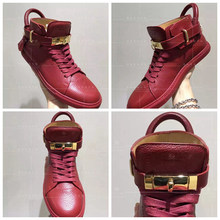 The turtle Hongkong purchasing. Buscemi lovers Classic Golden Lock red leisurely high shoes