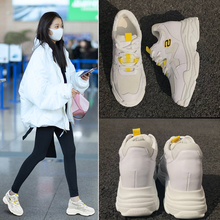 2018 spring ins super fire Shoes squat shoes increased shoes sports shoes female Korean casual shoes wild white shoes