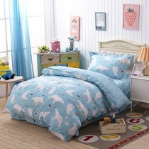 Children cartoon 3-piece cotton twill active printing three dormitory dormitory 1.2 single sheets