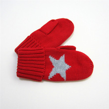 Children's knitted gloves Wuxing infant baby boys and girls warm winter gloves child handbag