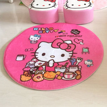 KT cute cat bed in front of the bedroom hall kitchen bathroom mat cartoon computer chair round carpet pad foot mat