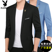 Playboy's new casual suit, young men's Korean version, slim suit, spring, thin, small suit, coat, coat