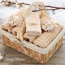 The high-end baby gift gift set newborn baby organic cotton gauze towel baby mother gift basket