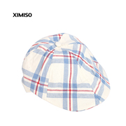 Ximei Eslite XIMISO new tide and plaid Beret