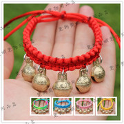 Special offer every day pet Necklace hand woven rope red collar Tactic copper bell Dog Cat Pendant