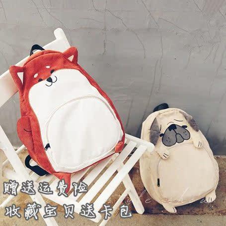 双肩包日本原宿学院风学生书包背包可爱狗狗小松鼠动物系列双肩包
