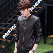 Special offer every day in winter men's PU leather Korean slim type short locomotive jacket collar coat Metrosexual tide