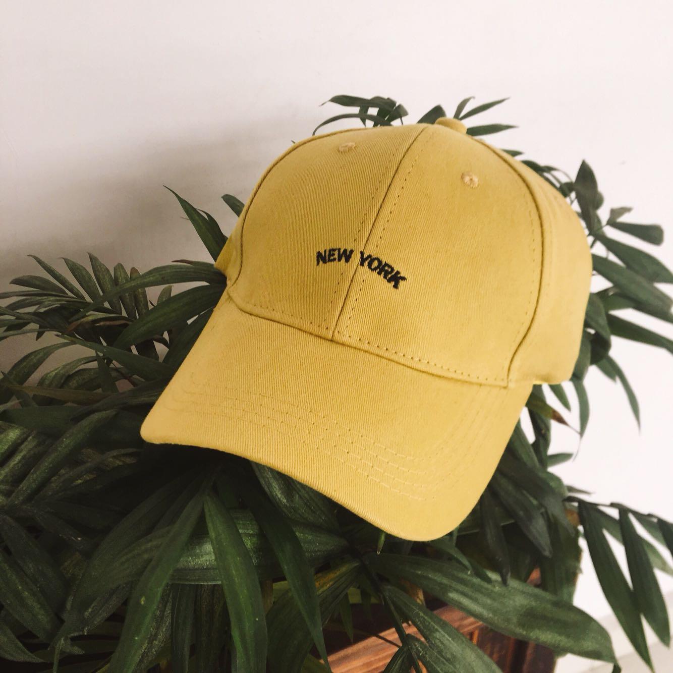 【芥末绿】英文刺绣强推高质量鸭舌帽复古棒球帽子男女情侣帽子