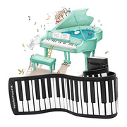 Piano house thickening coiling folding portable electronic organ children electronic organ music enlightenment practice teaching