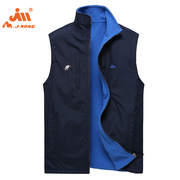 No youth leisure sleeve thermal vest two-sided wear Fleece Jacket vest vest for men in spring and Autumn