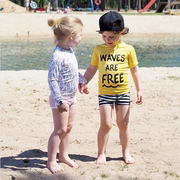 The official authorized the Holland children's swimsuit beach wear wetsuit radiation UPF50+ spot