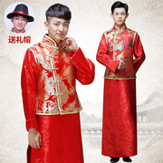 Wo Men's clothing show Chinese dress wedding dress gown jacket groom dragon tunic summer Costume Costume