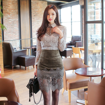 2017 spring new Korean fashion quality sexy v neck long sleeve lace shirts women wild cultivation base coat