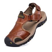 Camel cloud summer sandals male Baotou 2017 new men's leather shoes breathable beach outdoor leisure shoes