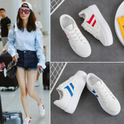 Street beat white shoe fall 2017 new all-match Korean thick soled canvas shoes female student shoes shoes summer wind in Hong Kong