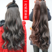 Six a chip card matte semi long curly hair wig can be straightened hair extensions can be hot big wave Edition