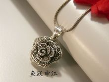 561 S925 litzi silver silver female Bangkok roses Pendant Necklace Sterling Silver Jewelry