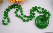 A dollar auction chalcedony Malay jade Full chrysoprase Peace clasp necklace sweater chain fashion