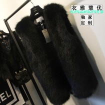 Day special fake fur vest in the long section of female 2016 fox fur vest sleeveless thin fur coat