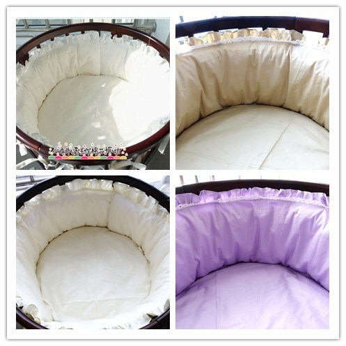 Custom color round baby bed bed around the fitted suit 1 week elliptical period