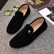 Spring peas breathable shoes mens lazy casual shoes suede spring tide on a pedal leisure leather shoes