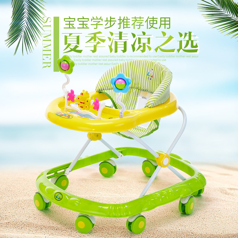 Baby walkers, 6/7-18 month scooter, multifunctional anti rollover cart, seat with music