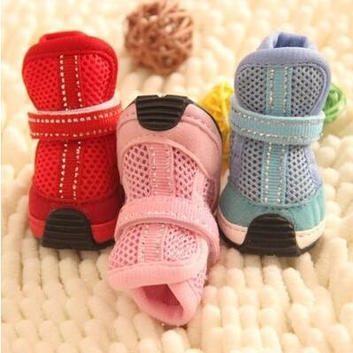 Pet dog spring shoes fashion sports shoes breathable mesh Tactic Bichon teacup dogs