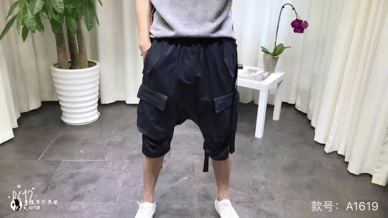 Metrosexual summer new linen with ribbon six high-quality stylish casual shorts pants