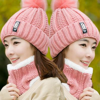 帽子女冬天韩版潮人甜美可爱毛线帽 青年学生优雅时尚英伦护耳帽