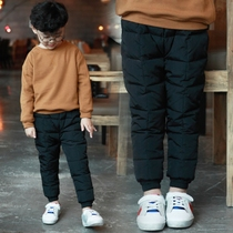 Down pants wearing boy thickening of the child children down in 2016 winter warm pants trousers new style baby pants